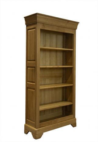 Bibliothèque réalisée en chêne massif de style louis philippe seulement 1 disponible