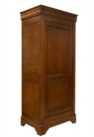 Bonnetière 1 porte  en Merisier Massif de style Louis Philippe Finition merisier rouge
