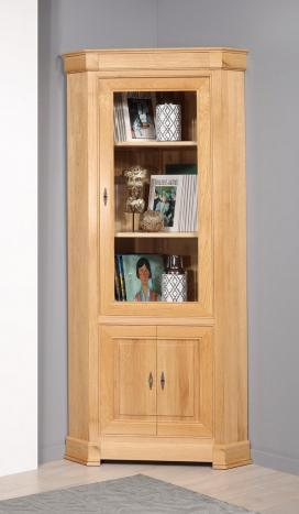 Encoignure 2 portes réalisée en chêne de style Directoire