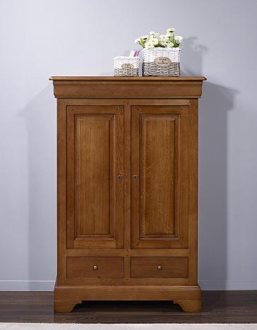 Bassette 2 portes 3 tiroirs réalisée en Chêne Massif de style Louis Philippe  Finition Chêne moyen