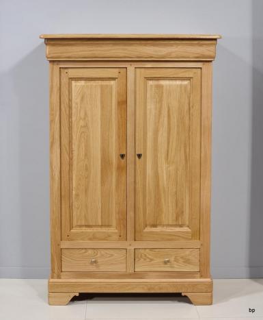 Bassette 2 portes 3 tiroirs réalisée en Chêne Massif de style Louis Philippe
