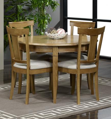 Table ronde Fabien réalisée en Chêne massif de style Louis philippe DIAMETRE 120