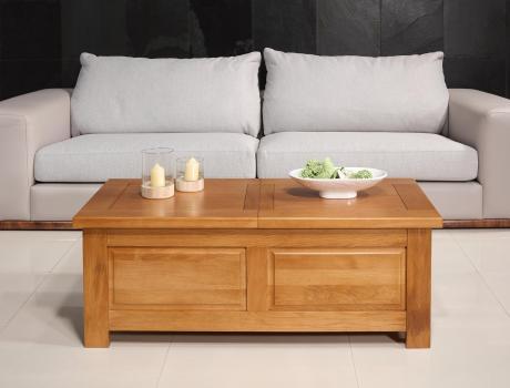 Table Bar Alix réalisée en Chêne de style Campagne