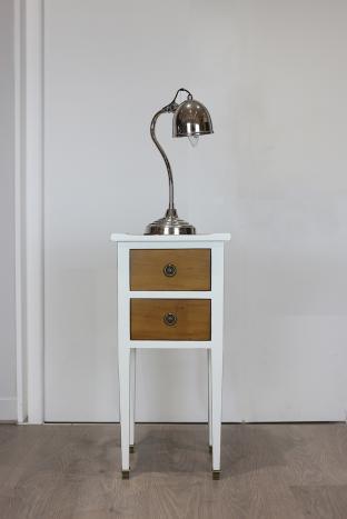 Table de nuit ou meuble d'appoint   en Merisier de style Directoire Bi color