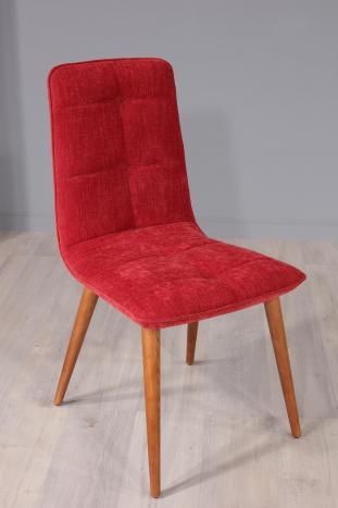 Chaise Lise en tissu 4 en hêtre massif