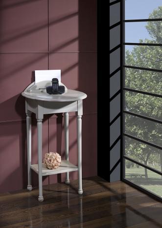 Table Téléphone Inès réalisée en Merisier de style Louis Philippe LAQUE GRIS