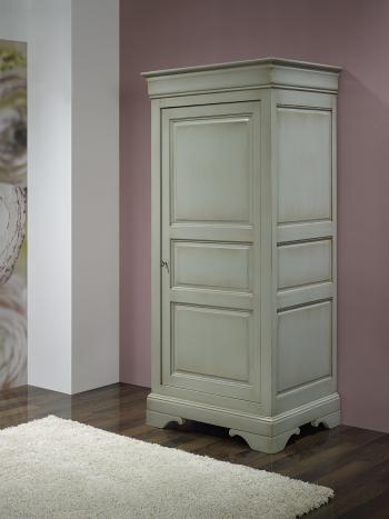 Bonnetière 1 porte Sarah réalisée en Merisier Massif de style Louis Philippe Finition Merisier Gris Antiquaire