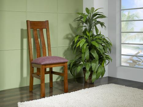 Chaise Annie réalisée em Merisier Massif de style contemporaine ASSISE TISSU