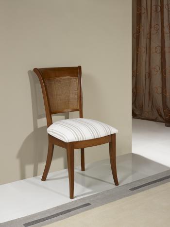 Chaise Ambre réalisée en Merisier de style Louis Philippe