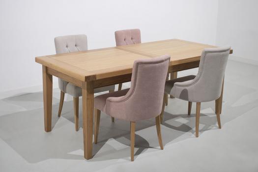 Table de Ferme Rectangulaire François  en Chêne massif  200*90 + 2 allonges de 45 cm SEULEMENT 1 DISPONIBLE
