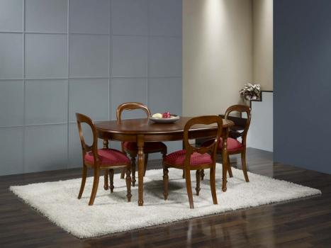 Table ovale   en Merisier Massif de style Louis Philippe 170*110 3 allonges de 40 cm