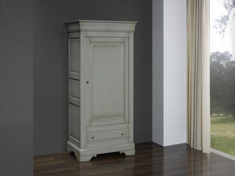 Bonnetiere 1 porte 1 tiroir Natacha réalisée en Merisier Massif de style Louis Philippe Finition Merisier Gris Antiquaire