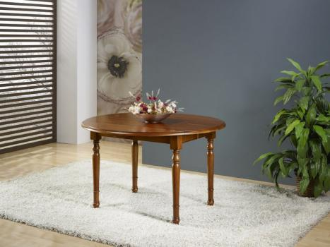 Table ronde à volets Florence réalisée en Merisier Massif de style Louis Philippe diamètre 110