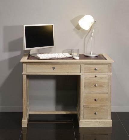 Petit bureau Luc réalisé en chêne de style Louis Philippe Finition Chêne Brossé