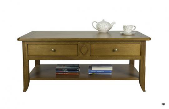 Table Basse Clément réalisée en Chêne de style Louis Philippe PLATEAU MARQUETTE