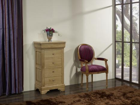 Chiffonnier 5 tiroirs   en Chêne Massif de style Louis Philippe