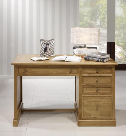 Bureau 5 tiroirs victor réalisé en chêne de style louis philippe seulement 1 disponible