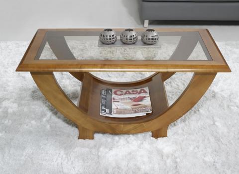 Table basse Nicolas réalisée en Merisier Massif de style Contemporain
